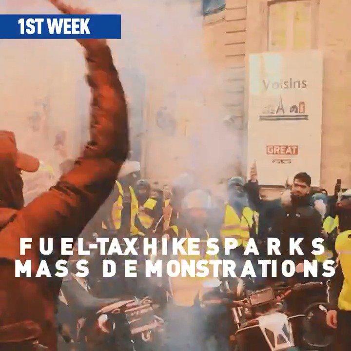 #YellowVest protests timeline: Nine weeks in under one minute   #GiletsJaunes #LesGiletsJaunes