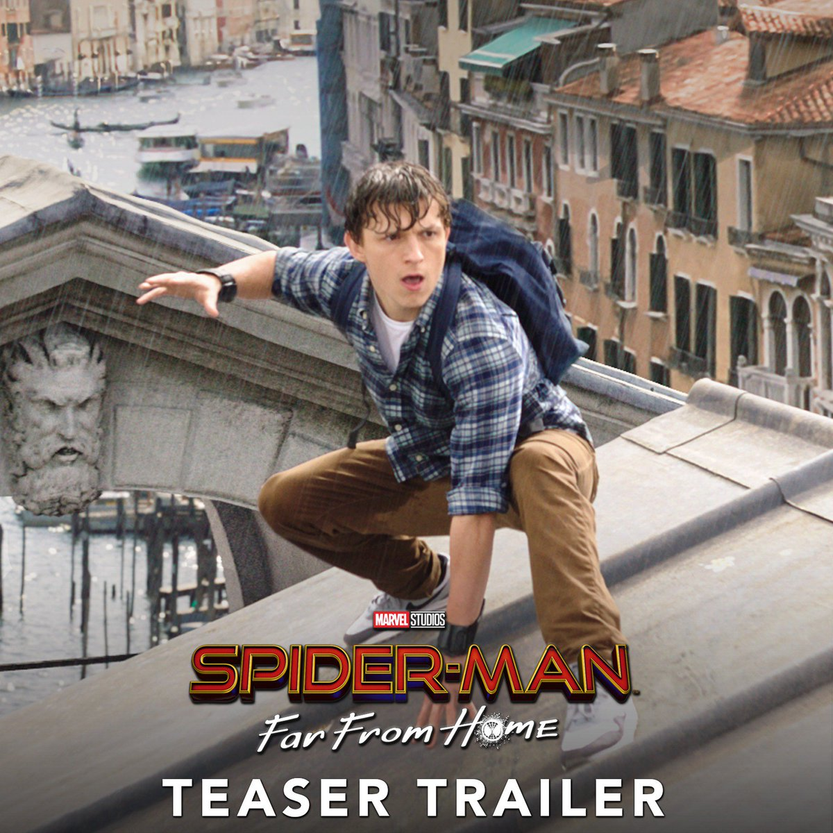 Watch the #SpiderManFarFromHome teaser trailer now. 7.5.19 🕷️