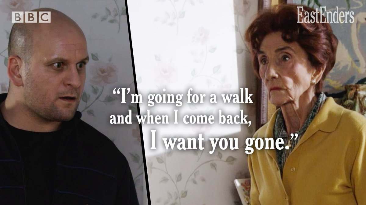 Yass Dot! You tell him! #EastEnders