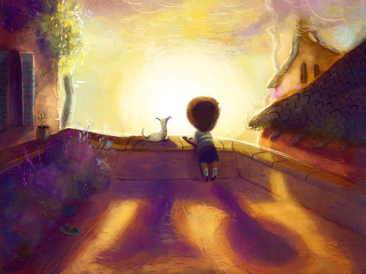 It's been a while since I've painted something like this for myself. Def needed it today  #kidlitart #illustration<br>http://pic.twitter.com/epPVoNspVK