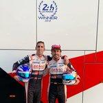 Helmet swap with my friend and team mate @Sebastien_buemi . New addition to @CircuitoMuseoFA #worldchampion #24hwinner