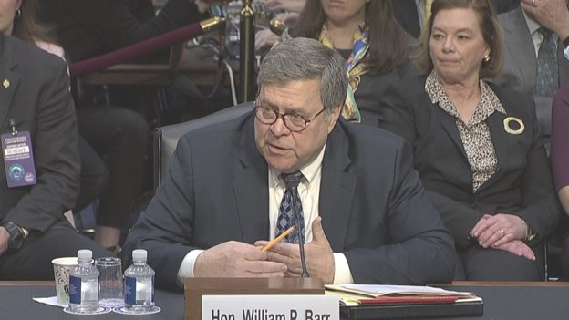 AG-nominee William Barr says he has asked Deputy AG Rod Rosenstein to stay on through a transition until a new Deputy is named and he said he would. No date set yet.
