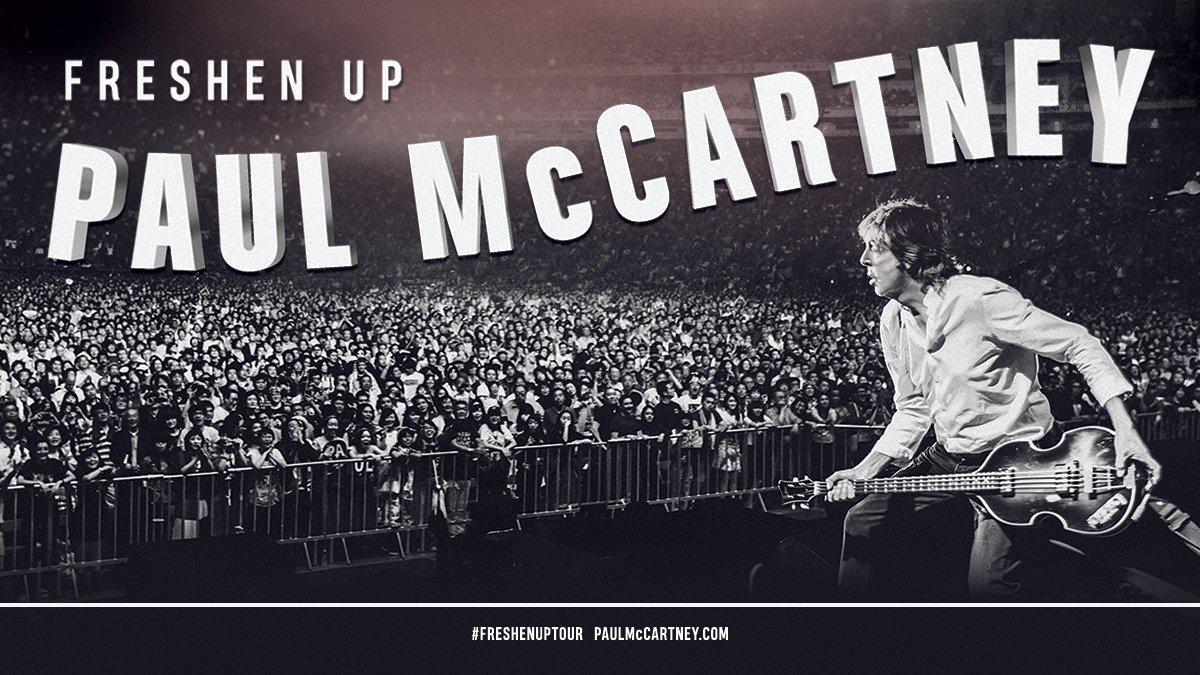 Paul adds Las Vegas date to his #FreshenUpTour! Pre-sale info HERE: paulmccartney.com/news-blogs/new…