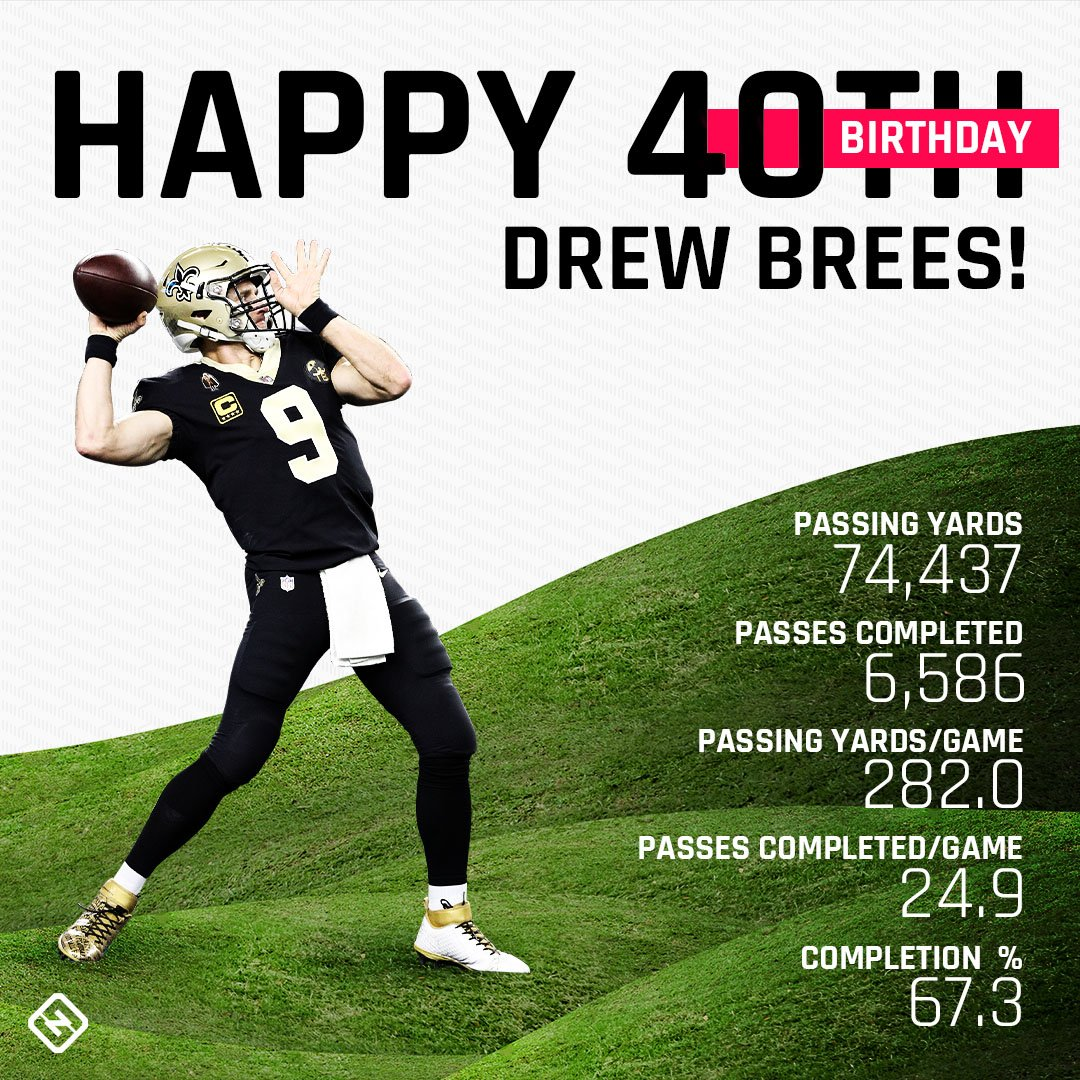 8b5442438 drew brees turns 40 today the qb is ranked no 1 in nfl history in passing