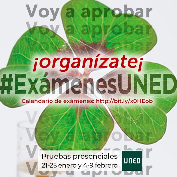 Calendario De Examenes Uned.Uned V Twitter Voy A Aprobar Una Buena Idea Es Afrontar Los