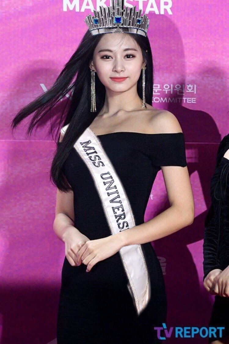 Please Welcome Our very own Miss Universe!   Ms. Chou Tzuyu  @JYPETWICE #TWICE #TZUYU<br>http://pic.twitter.com/Yhr9gHc0sp
