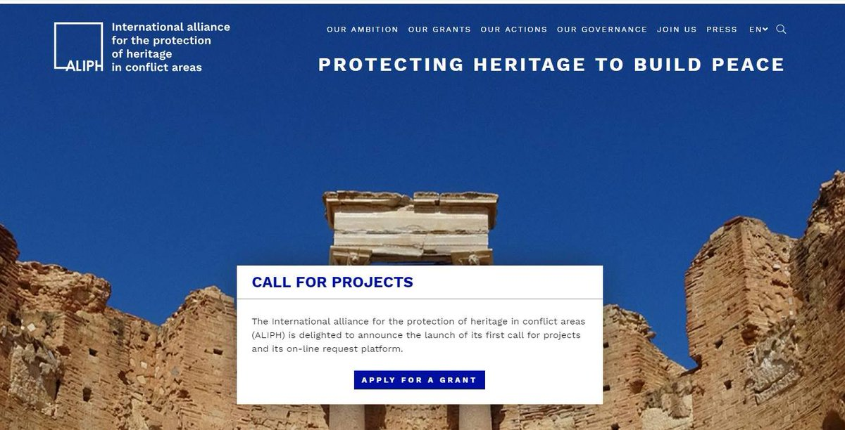 Today's the day you can start applying to #ALIPH for funding to protect cultural heritage in conflict. Looking forward to helping you make a difference. #ProtectingHeritageToBuildPeace http://aliph-foundation.org