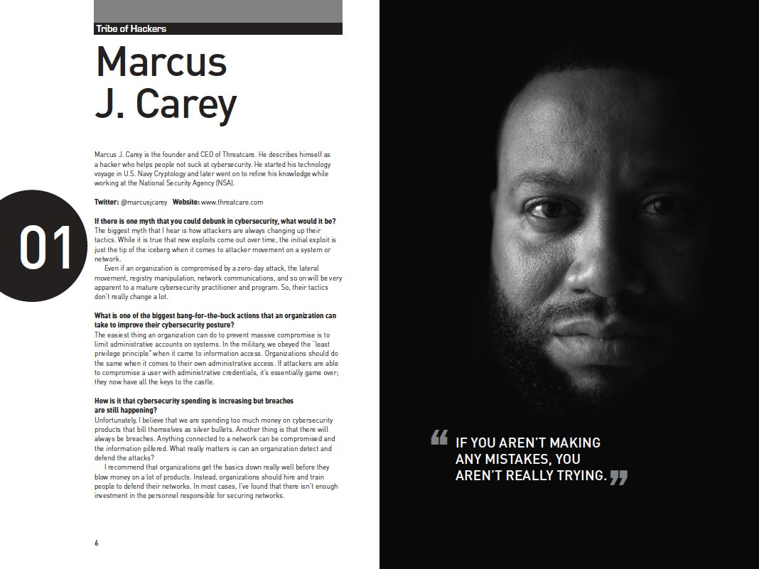tribe of hackers  Marcus J. Carey on Twitter: