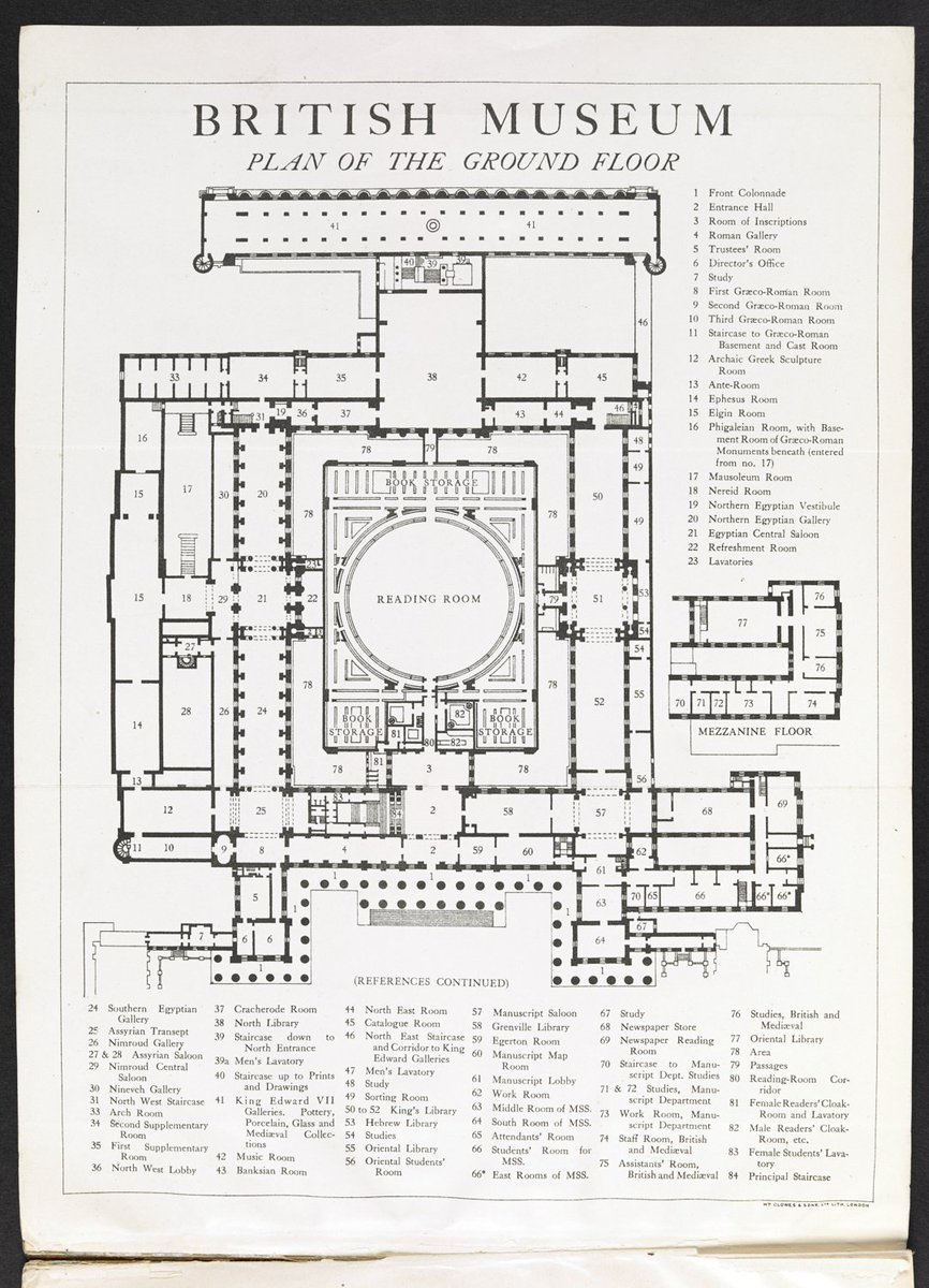 Happy 260th birthday to @britishmuseum which first opened its doors #onthisday in 1759! This plan shows additions to the Museum in the 1930s to provide space for the Library department (an early version of us). Take a closer look: https://t.co/2dv1el3ynI