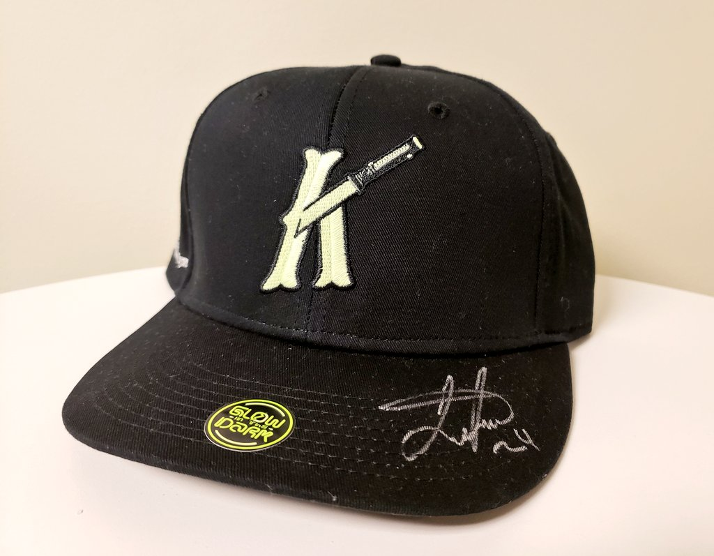 Happy #NationalHatDay! Want to win a Glow-in-the-Dark Knights hat autographed by Leury García?  1. RT this Tweet 2. Follow @KnightsBaseball & @ArmorShoppe   One lucky winner will be selected at 5:30 PM today. Good luck! – at BB&T Ballpark