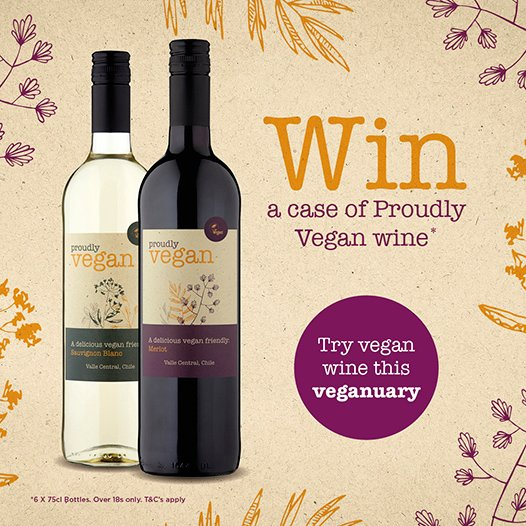 #COMPETITION TIME  This #Vegan wine is in stores NOW and it&#39;s perfect for #Veganuary!  For a chance to #WIN a case, simply FLW, RT &amp; COMMENT which wine you prefer-Red or White!  Competition ends 9am 22/01/19  18+ only. Please drink responsibly. Visit drinkaware for info!<br>http://pic.twitter.com/0Q3sLhS0Nv