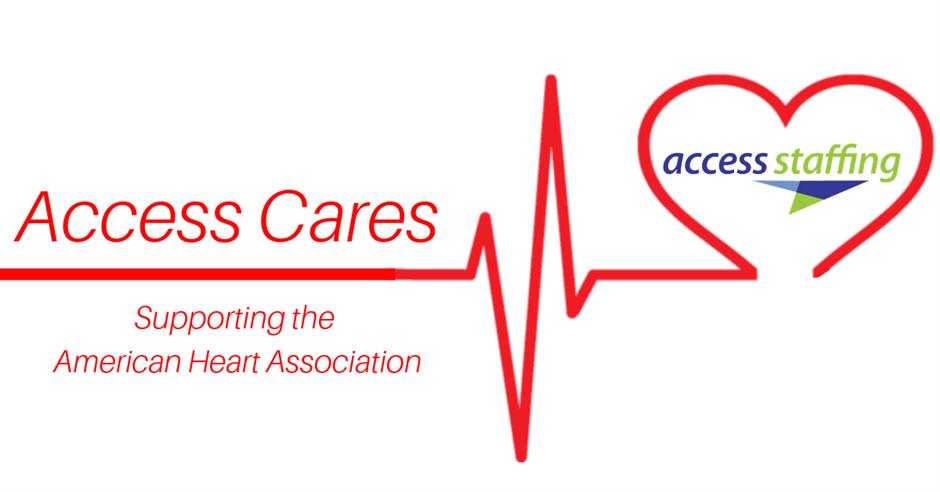 Join us in the fight against heart disease! https://buff.ly/2QGlaS3 #AHA #AccessStaffing #WearRedDay #GoRed #HeartDisease #AccessCares
