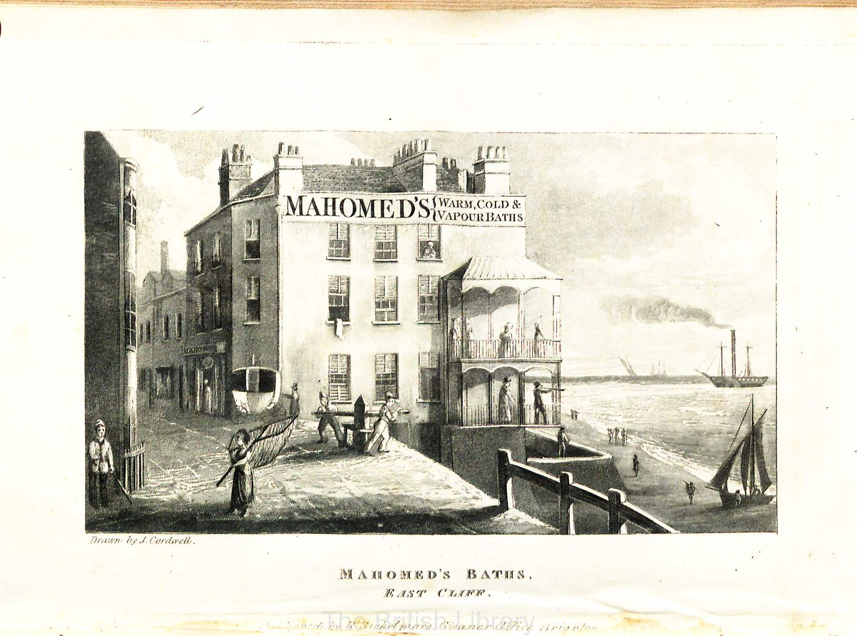 [2/2] Illustration of S.D. Mahomed&#39;s Baths in Brighton from his book on Shampooing, 1822 edition (British Library, 1509/576)  #GoogleDoodle #SakeDeanMahomed<br>http://pic.twitter.com/xhbF0kXgde