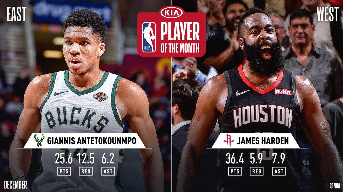 лучшие в НБА, декабрь