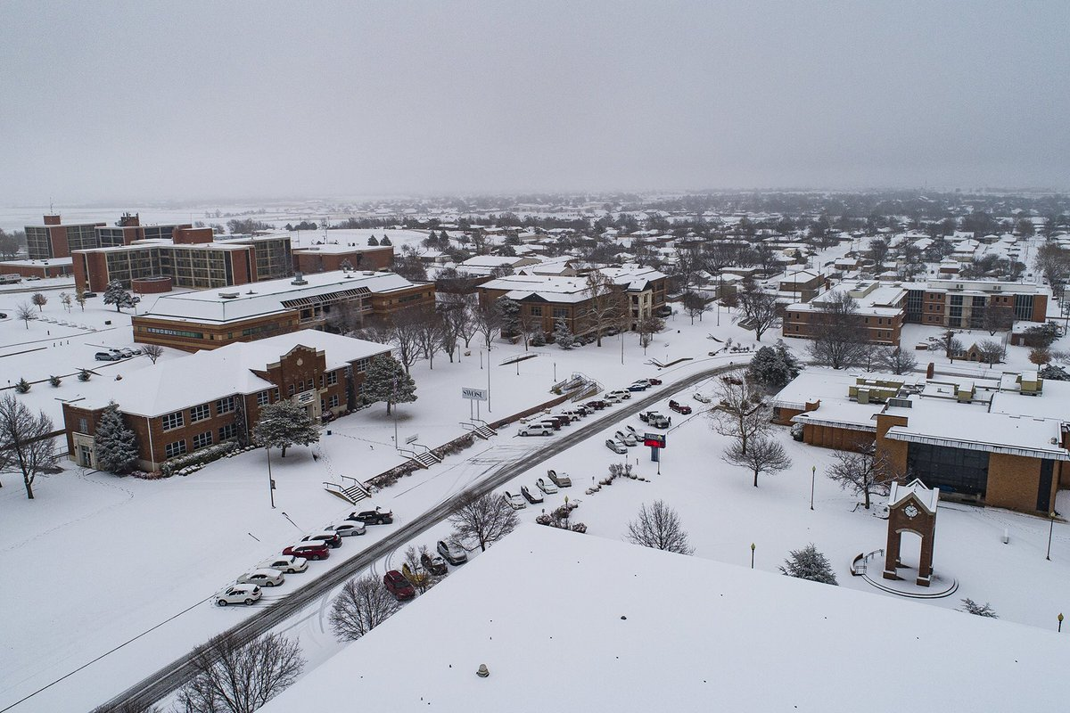 A little different look today of the SWOSU campus!
