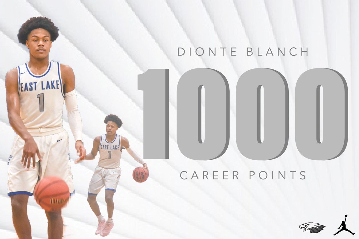 Congratulations to #ELBball Junior @iBlanchDionte who scored his 1,000 career point today!