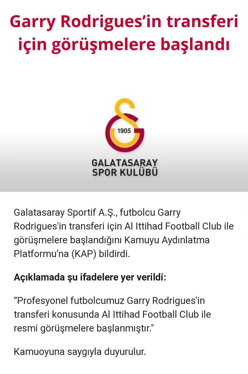 نادي غلطة سراي التركي يعلن رسمياً عبر موقعه الرسمي انتقال لاعبه غاري رودريغيز