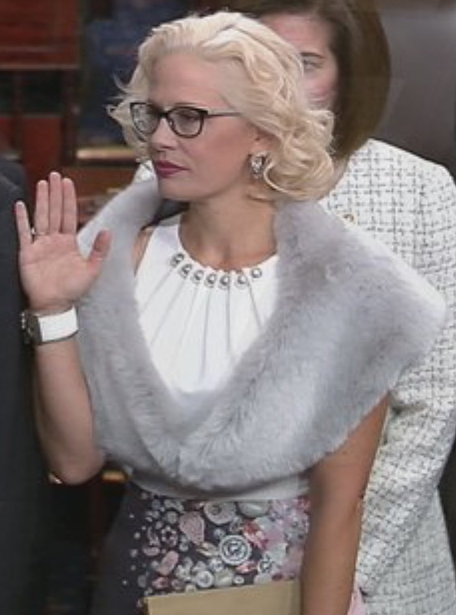 Sen. Kyrsten Sinema, sworn in today, is the first out bi senator in US history, and only the second out LGBT member of the Senate, following Sen. Tammy Baldwin.