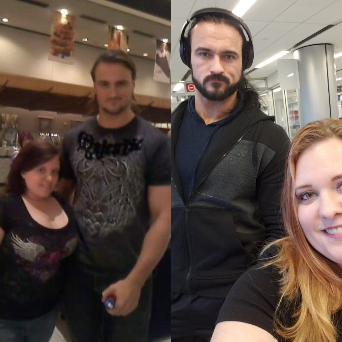 #tbt #ThrowbackThursday to the first time I met @DMcIntyreWWE #WM27 #WrestleMania what a difference. And look at that kilt!