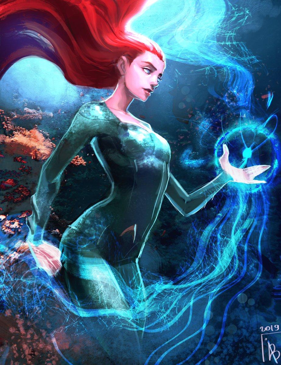My fanart of Mera from the new Aquaman movie #Aquaman #AmberHeard #mera #illustration