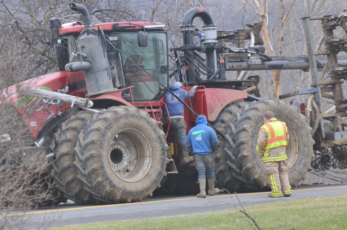 CR 40 in Richmond closed by National Grid after tractor pulls down power lines