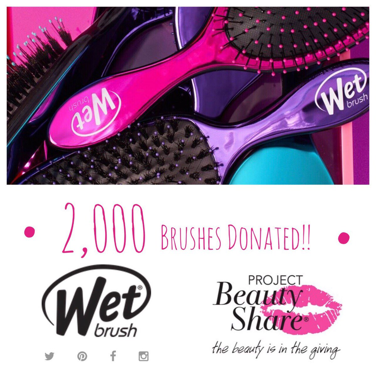 As @ProjBeautyShare's Love Your Hair Day gets closer, we are excited to share @TheWetBrush has donated 2,000 brushes to be distributed to our shelters at the event!! #ThankYou!!  #thebeautyisinthegiving #wetbrush #WetBrushGivesBack #donation #hair #confidence #beauty https://t.co/jOyAAa78cq