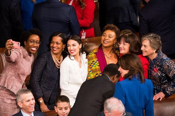 To the women sworn in to Congress today, the most in our history: Congratulations. Knock it out of the park.