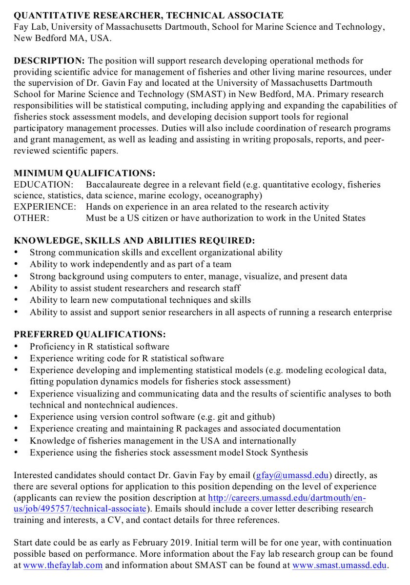 Alex Hayes Alexpghayes Twitter It Cv Or What I Never Learned In Tech School Description Of Requirements For Technical Associate Position Lab Gavin Fay At Umass Dartmouth
