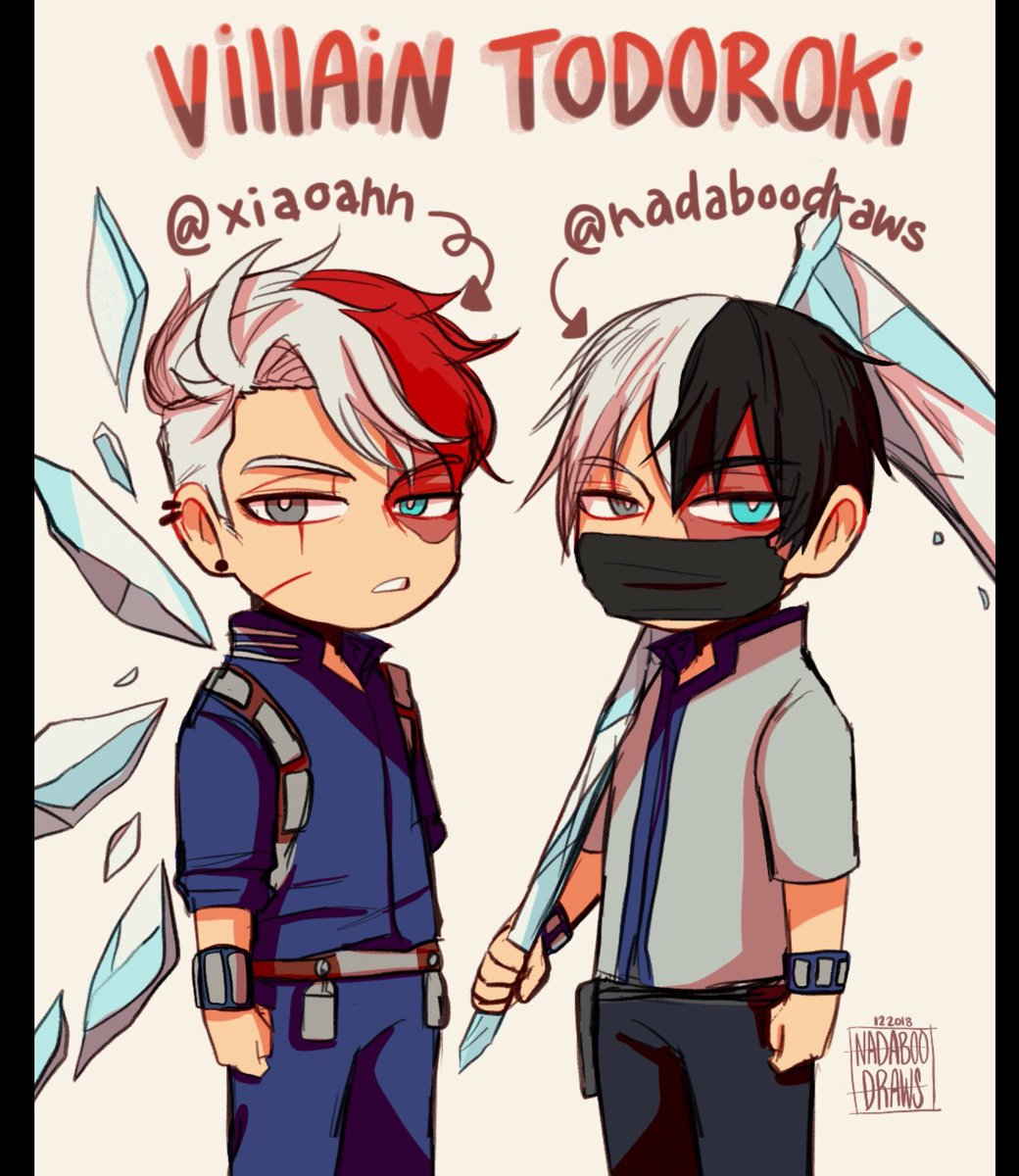 Nadaboodraws On Twitter Villain Todoroki Of My Version And