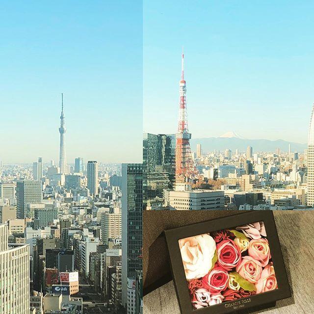 富士山、東京タワー、スカイツリーのコラボが嬉しくて。いただいたフラワーソープにもニコニコ。美しいものはどんな形でも感動をくれます。  #富士山 #東京タワー #スカイツリー #人生の質を高める #女性の働き方 #自由に働く #webライティング #美しいもの http://bit.ly/2QmklO3