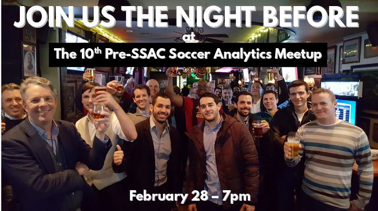 test Twitter Media - SAVE THE DATE  The 10th (!!) annual Pre-#SSAC19 Soccer Analytics Meetup will be   February 28  at  7pm.   Location TBA. https://t.co/MnaDGQdd4u