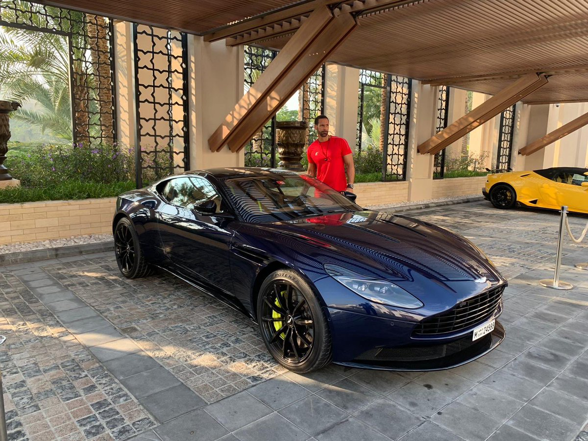 Happy New Year To the @astonmartin team... thanks for the #DBS & #DB11 hook up while out here in Dubai 😍 #ad