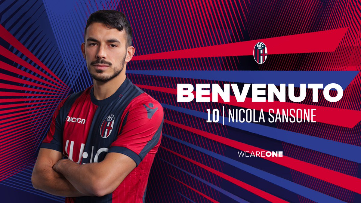 📣 OFFICIAL ✍️  Nicola #Sansone is now a new Bologna player!   Welcome @NicolaSansone91 👏  #WeAreOne 🔴🔵