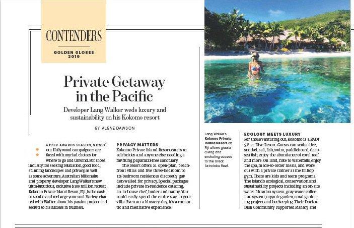 Private Get Away To The #Pacific – Billionaire Developer Lang Walker Weds #Luxury And #Sustainability At His Kokomo #Resort https://variety.com/2019/film/spotlight/kokomo-fiji-lang-walker-1203098166/… #AwardSeason #Oscars #wellness #travel #Fiji @kokomoislandfiji #scubadiving #diving #environment #business @docktodish @AleneDawson