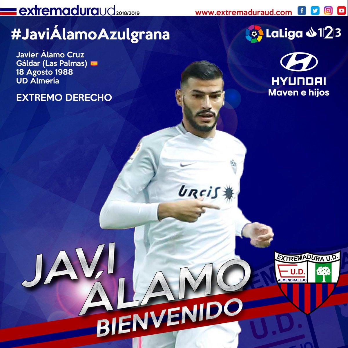Javi Álamo, nuevo jugador del Extremadura.