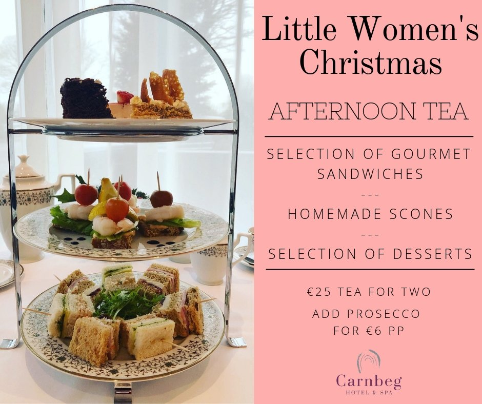 Celebrate #LittleWomensChristmas this Sunday, January 6th, with some #AfternoonTea in our restaurant. Contact us to book today - call: +353 (0)42 9320261 or email: sales@carnbeghotel.ie