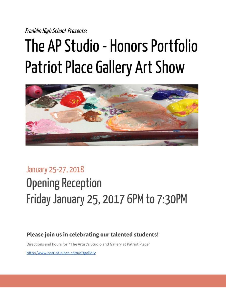 FHS Studio Arts at Patriot Place - Jan 25