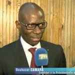 Image for the Tweet beginning: Boubacar Camara : «La présidentielle