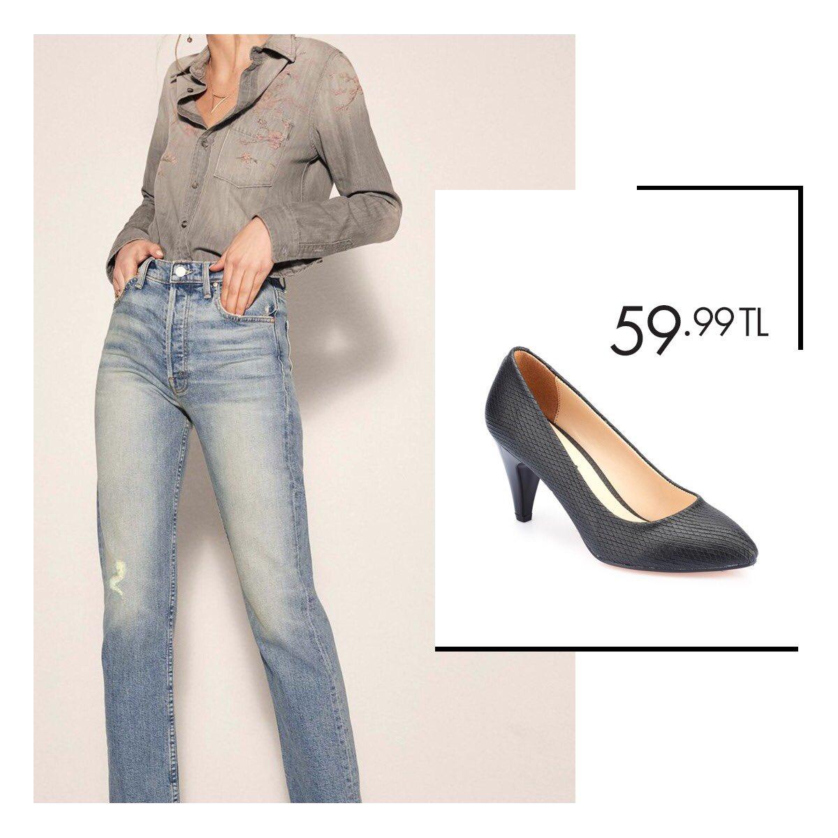 Hem günlük hem gece kullanımı için uygun topuklu ayakkabı modelleri Polaris'te! Siyah Kadın Ayakkabı 36-40 Numara 59,99 TL 🔎 100320640 http://bit.ly/2COiNsC