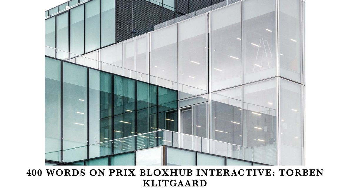 Use Technology to Deliver Better Quality of Life!  Third up in our blog series featuring 400 words on PRIX BLOXHUB INTERACTIVE is Director @TorbenKlitgaard. Read it here ➡️ https://t.co/z4D5zZXkSD  ...pssst: Submit your ideas until Feb.15!: https://t.co/euHPC0ZYY5