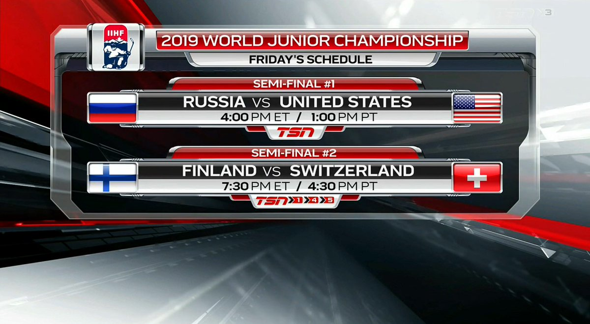 Tsn Hockey On Twitter Game Day Gmillertsn And Rayferrarotsn Have The Call For The Semifinals Today At The Worldjuniors Check Out Our Tsnhockey Broadcast Schedule Also Available On The Tsn App