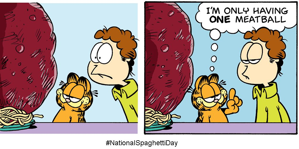 Garfield On Twitter One Does Want To Exercise Some Restraint Nationalspaghettiday