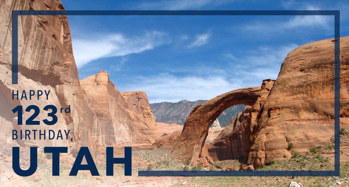 Happy birthday to the beautiful state of Utah!