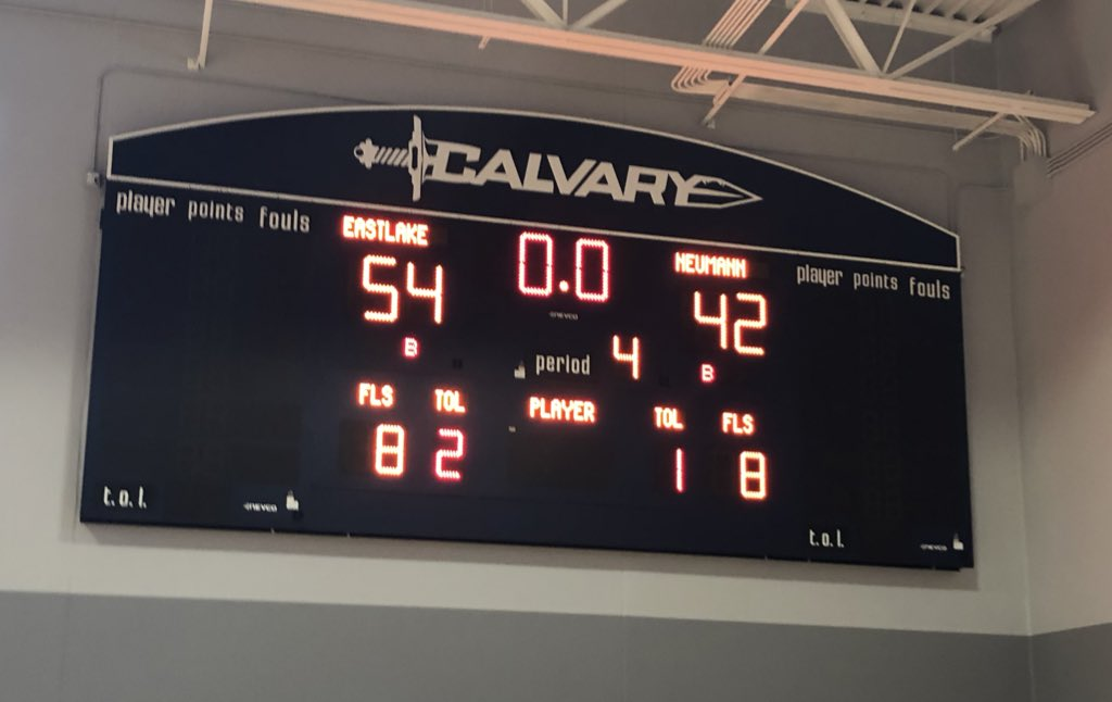 #ELBball gets the 54-42 W over St. John Neumann Catholic (10-3)! Eagles improve to 11-1! We play the winner of @CCHSGirlsHoops1 and Sickles game in the championship game tomorrow at 2:00pm at @SportsCalvary. #LifeIsBetterAtTheLake