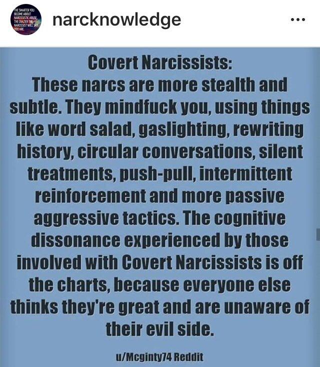 covertnarcissist hashtag on Twitter