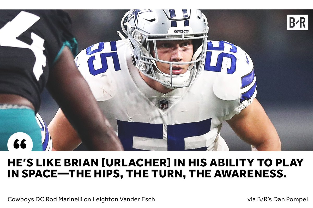 leighton vander esch is drawing comparisons to hall of fame lb brian  urlacher 2a99d7752