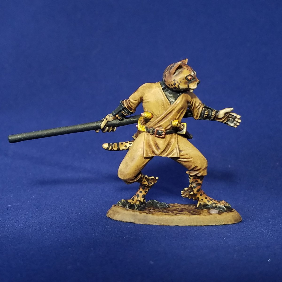 Catfolk Monk Miniature Do the claws of tabaxi and tortles change the unarmed attacks of monk to slashing damage, or is the damage separate? catfolk monk miniature
