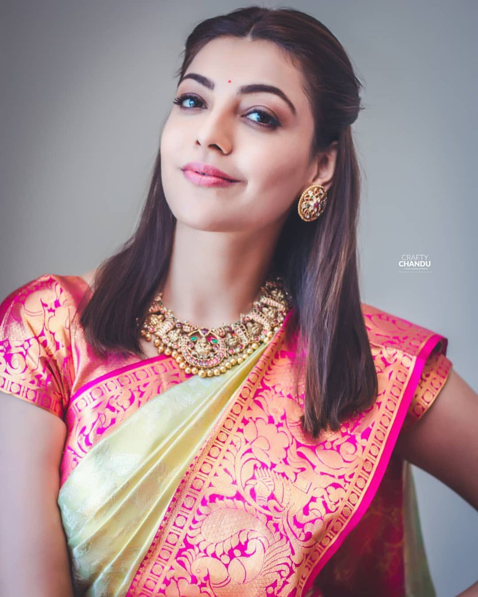 Traditional Beauty @MsKajalAggarwal Latest pics at #MaangalyaShoppingMall  inaguration :) #Kajalism @KajalTamilFc