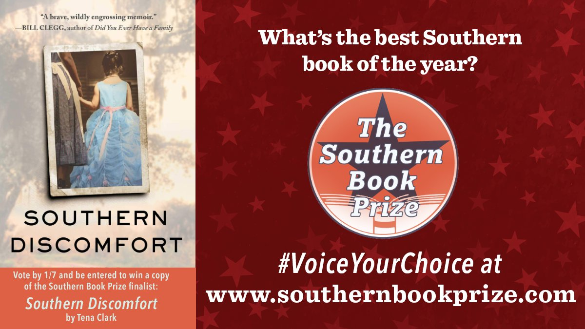 There's only a few days left to #VoiceYourChoice for the #southernbookprize! Vote now at southernbookprize.com!