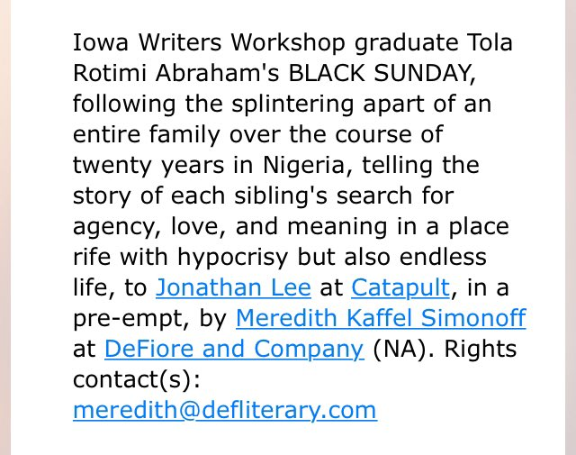 Uyo meyo leun osan o kan mi . So excited to announce that my novel has found the perfect home.